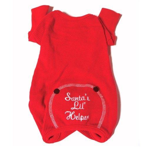 Santas-Lil-Helper-Embroidered-Thermal-Dog-Pajamas-X-Small-0