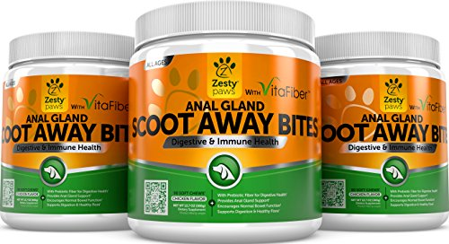 Scoot-Away-Soft-Chews-for-Dogs-With-Digestive-Enzymes-Prebiotics-VitaFiber-Pumpkin-Dandelion-Root-for-No-Scoots-Anal-Gland-Sac-Bowel-Support-For-Dog-Gas-Constipation-90-Chew-Treats-0-2