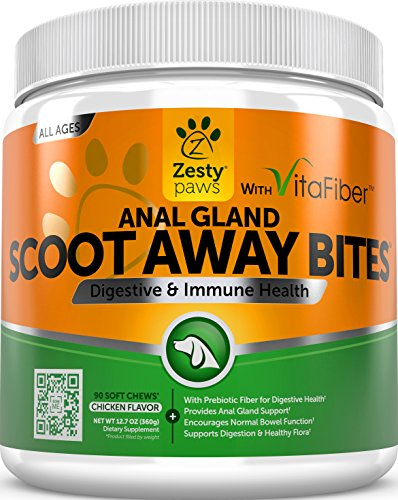 Scoot-Away-Soft-Chews-for-Dogs-With-Digestive-Enzymes-Prebiotics-VitaFiber-Pumpkin-Dandelion-Root-for-No-Scoots-Anal-Gland-Sac-Bowel-Support-For-Dog-Gas-Constipation-90-Chew-Treats-0
