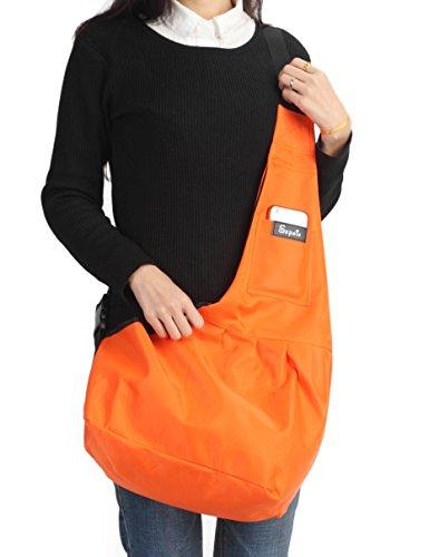 Sepnine-190D-Nylon-Waterproof-Pet-Carrier-Shoulder-Bag-With-Extra-Pocket-for-Cat-Dog-And-Small-Animals-Orange-0