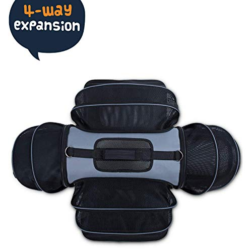 Smiling-Paws-Pets-4-Way-Expandable-Soft-Sided-Airline-Approved-Pet-Carrier-for-Cats-and-Dogs-BlackGrey-Folding-for-Easy-Transport-for-Air-or-Car-Travel-Meets-Most-Under-Seat-Requirements-0-1