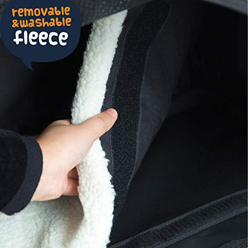 Smiling-Paws-Pets-4-Way-Expandable-Soft-Sided-Airline-Approved-Pet-Carrier-for-Cats-and-Dogs-BlackGrey-Folding-for-Easy-Transport-for-Air-or-Car-Travel-Meets-Most-Under-Seat-Requirements-0-2