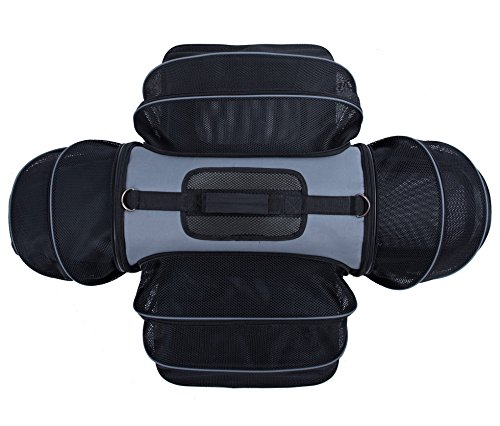 Smiling-Paws-Pets-4-Way-Expandable-Soft-Sided-Airline-Approved-Pet-Carrier-for-Cats-and-Dogs-BlackGrey-Folding-for-Easy-Transport-for-Air-or-Car-Travel-Meets-Most-Under-Seat-Requirements-0