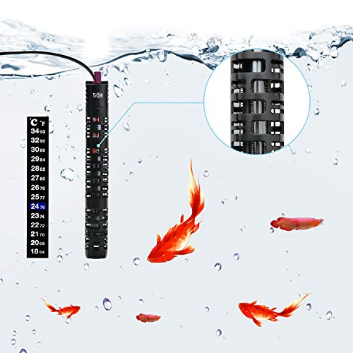 Star-Factory-Submersible-Aquarium-Heater-with-Thermometer-and-Protective-CaseIdeal-for-5-20-Gallon-Fish-Tank50WattBlack-0