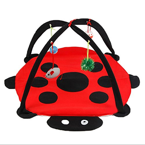 Sundlight-Interactive-Cat-Activity-Play-MatFoldable-Multifunction-Pet-Kitten-Padded-Bed-with-Hanging-Toys-Balls-and-Mice-0
