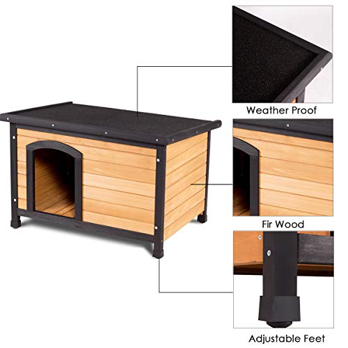 Tangkula-Wooden-Dog-House-Outdoor-Indoor-Large-Pet-Shelter-Pet-House-Home-Extreme-Weather-Resistant-Wood-Log-Cabin-Dog-House-2-Size-Adjustable-Feet-ML-0-0