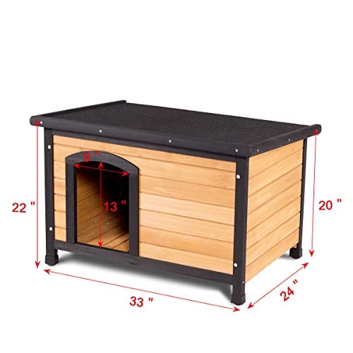 Tangkula-Wooden-Dog-House-Outdoor-Indoor-Large-Pet-Shelter-Pet-House-Home-Extreme-Weather-Resistant-Wood-Log-Cabin-Dog-House-2-Size-Adjustable-Feet-ML-0-2