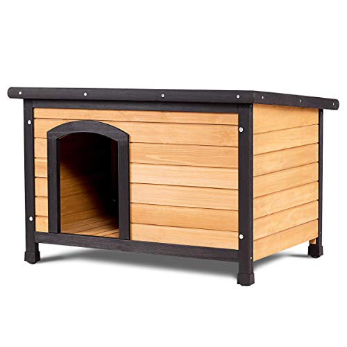 Tangkula-Wooden-Dog-House-Outdoor-Indoor-Large-Pet-Shelter-Pet-House-Home-Extreme-Weather-Resistant-Wood-Log-Cabin-Dog-House-2-Size-Adjustable-Feet-ML-0