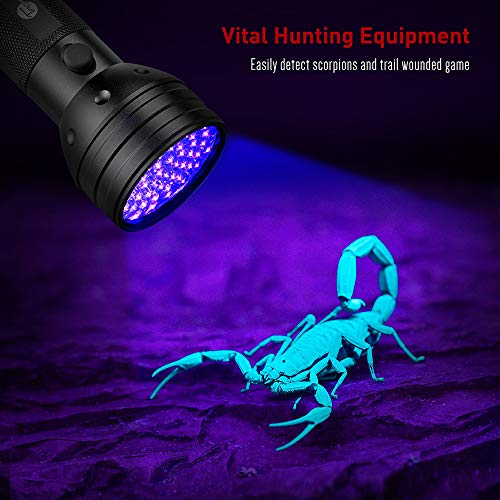 TaoTronics-Black-Light-51-LEDs-UV-Blacklight-Flashlights-Detector-for-Dry-Pets-Urine-Stains-Bed-Bug-with-Free-UV-Sunglasses-and-3-Batteries-0-1