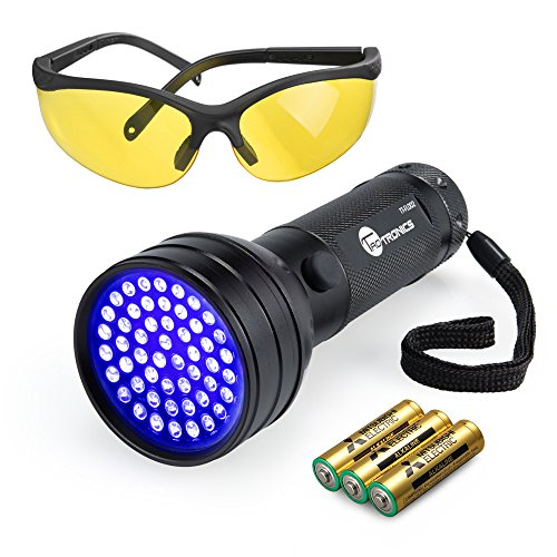 TaoTronics-Black-Light-51-LEDs-UV-Blacklight-Flashlights-Detector-for-Dry-Pets-Urine-Stains-Bed-Bug-with-Free-UV-Sunglasses-and-3-Batteries-0