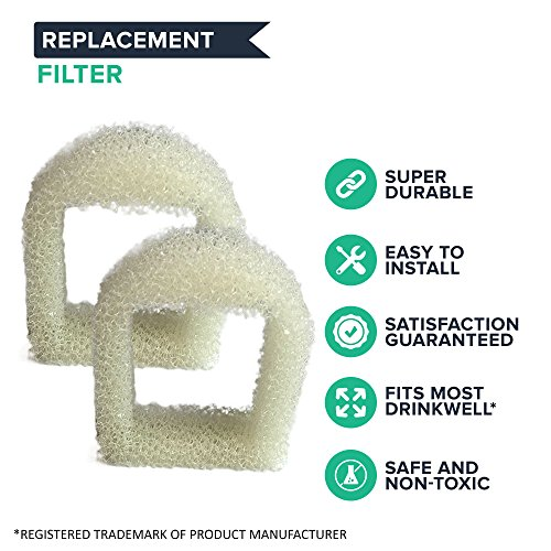 Think-Crucial-8-Replacements-for-Drinkwell-Foam-Pre-Filters-Fits-360-Lotus-Avalon-Pagoda-Sedona-Pet-Fountains-0-0