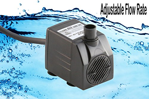 Tiger-Pumps-120GPH-Submersible-Water-Pump-Pond-Pump-Aquarium-Pump-Fish-Tank-Pump-Fountain-Pump-with-120-GPH-Pump-Excellent-Powerheads-for-Aquariums-Hydroponics-Air-Pump-with-6-Feet-Power-Cord-0-0