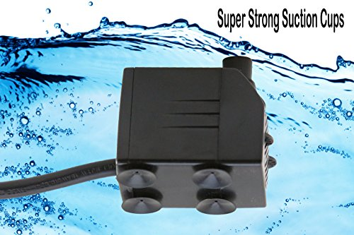 Tiger-Pumps-120GPH-Submersible-Water-Pump-Pond-Pump-Aquarium-Pump-Fish-Tank-Pump-Fountain-Pump-with-120-GPH-Pump-Excellent-Powerheads-for-Aquariums-Hydroponics-Air-Pump-with-6-Feet-Power-Cord-0-1
