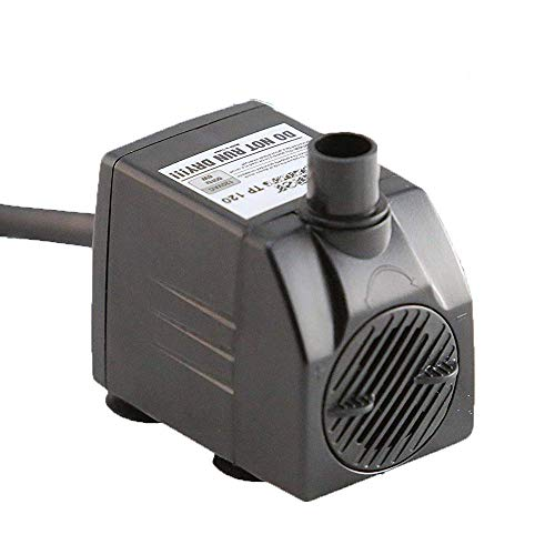 Tiger-Pumps-120GPH-Submersible-Water-Pump-Pond-Pump-Aquarium-Pump-Fish-Tank-Pump-Fountain-Pump-with-120-GPH-Pump-Excellent-Powerheads-for-Aquariums-Hydroponics-Air-Pump-with-6-Feet-Power-Cord-0