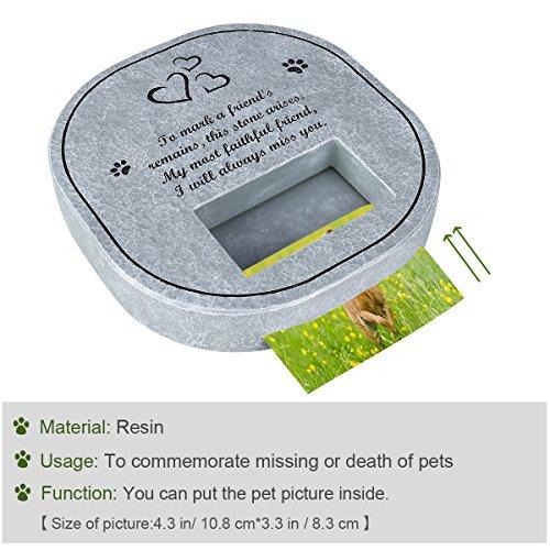 UEETEK-Pet-Memorial-Stone-Tombstone-with-Waterproof-Photo-Frame-Memorial-for-Loss-of-Dog-or-Cat-0-1