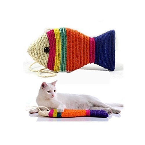 UEETEK-Sisal-Rope-Cat-Scratch-Board-Scratching-Pad-Play-Funny-Toy-Fish-Shape-Random-Color-0