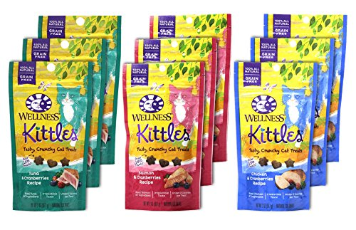 Wellness-Kittles-Cat-Treat-Variety-Pack-3-Flavors-Chicken-Cranberries-Salmon-Cranberries-and-Tuna-Cranberries-Flavors-2-oz-Each-9-Total-Pouches-0