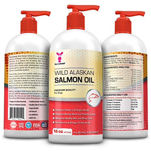 Wild-Alaskan-Salmon-Oil-for-Dogs-Cats-Ferrets-16-32-oz-Pure-Unscented-Omega-3-Fatty-Acid-Liquid-Fish-Oil-Supplement-Rich-in-EPA-DHA-for-Pets-Helps-Joints-Dry-Skin-Coat-Just-Pump-on-Food-0