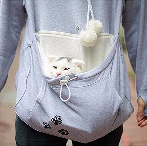 Womens-Hoodies-Pet-Holder-Cat-Dog-Kangaroo-Pouch-Carriers-Pullover-Sweatshirt-0-2