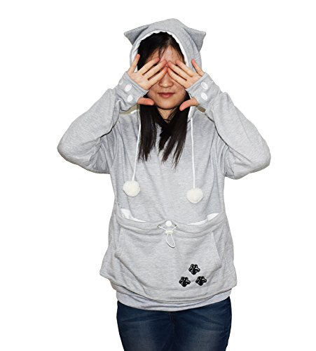 Womens-Hoodies-Pet-Holder-Cat-Dog-Kangaroo-Pouch-Carriers-Pullover-Sweatshirt-0