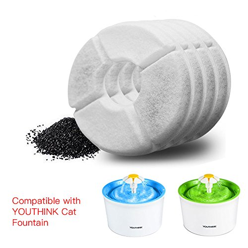 YOUTHINK-Pet-Water-Fountain-Replacement-Carbon-Filters-8-Pack-Flower-Cat-and-Dog-Fountain-Filters-0-1