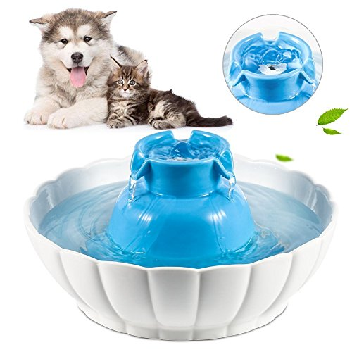 YOUTHINK-Replacement-Pet-4Pcs-Premium-Cotton-Activated-Carbon-and-1Pcs-Foam-Filters-Ceramic-Cat-Water-Fountain-White-0-1