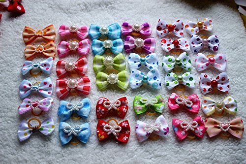 Yagopet-100pcslot-Hot-Selling-Pet-Dog-Hair-Bows-Topknot-Mix-Pearls-Rubber-Bands-Bows-Pet-Grooming-Products-Mix-Colors-Varies-Colors-Pet-Hair-Bows-0-0