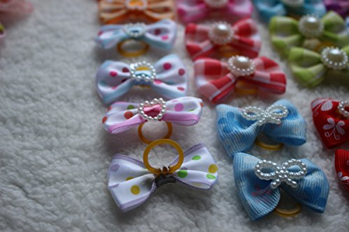 Yagopet-100pcslot-Hot-Selling-Pet-Dog-Hair-Bows-Topknot-Mix-Pearls-Rubber-Bands-Bows-Pet-Grooming-Products-Mix-Colors-Varies-Colors-Pet-Hair-Bows-0-1