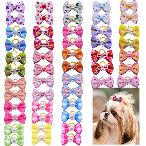 Yagopet-100pcslot-Hot-Selling-Pet-Dog-Hair-Bows-Topknot-Mix-Pearls-Rubber-Bands-Bows-Pet-Grooming-Products-Mix-Colors-Varies-Colors-Pet-Hair-Bows-0