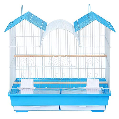 Yaheetech-23H-Triple-Roof-Bird-Cage-for-Small-and-Medium-Sized-Birds-w2-Handles2-Slide-Out-Trays2-Feeding-Cups2-Bottom-Grilles3-Feeding-Doors-0-0