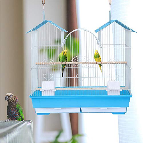 Yaheetech-23H-Triple-Roof-Bird-Cage-for-Small-and-Medium-Sized-Birds-w2-Handles2-Slide-Out-Trays2-Feeding-Cups2-Bottom-Grilles3-Feeding-Doors-0-1