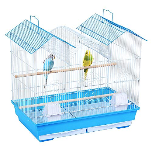 Yaheetech-23H-Triple-Roof-Bird-Cage-for-Small-and-Medium-Sized-Birds-w2-Handles2-Slide-Out-Trays2-Feeding-Cups2-Bottom-Grilles3-Feeding-Doors-0