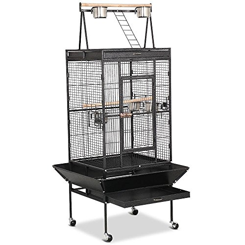 Yaheetech-Pet-Supply-Large-Bird-Cage-Play-Top-Parrot-Finch-Cage-Cockatoo-Cage-29-12-inch-by-31-inch-by-68-inch-0