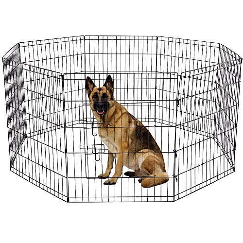 Yoshioe-24-Tall-Metal-Pet-Playpen-Folding-Exercise-Wire-Fence-8-Panel-Yard-Hammigrid-Outdoor-0-0