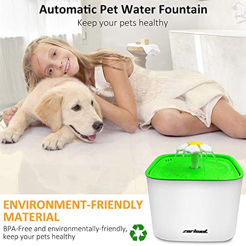 Zerhunt-Pet-Water-Fountain-2L-Cat-Water-Dispenser-Automatic-Drinking-Water-Bowl-Healthy-Hygienic-Drinking-Fountain-Super-Quiet-with-3Pcs-Replacement-Filters-for-Cats-Dogs-0-0