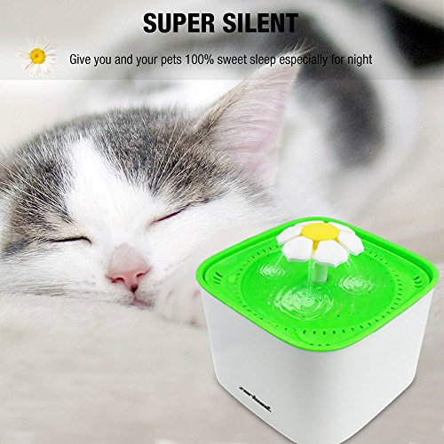 Zerhunt-Pet-Water-Fountain-2L-Cat-Water-Dispenser-Automatic-Drinking-Water-Bowl-Healthy-Hygienic-Drinking-Fountain-Super-Quiet-with-3Pcs-Replacement-Filters-for-Cats-Dogs-0-1