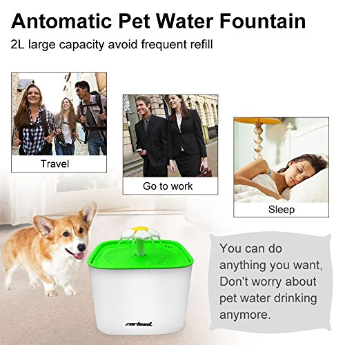 Zerhunt-Pet-Water-Fountain-2L-Cat-Water-Dispenser-Automatic-Drinking-Water-Bowl-Healthy-Hygienic-Drinking-Fountain-Super-Quiet-with-3Pcs-Replacement-Filters-for-Cats-Dogs-0-2