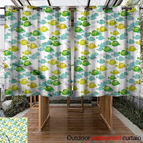 cobeDecor-Aquarium-Outdoor-Balcony-Privacy-Curtain-Small-Pet-Fishes-Pattern-0-0