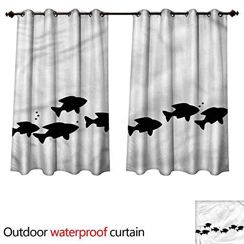 cobeDecor-Fish-Outdoor-Curtain-for-Patio-School-of-Fish-Bubbles-Sea-0