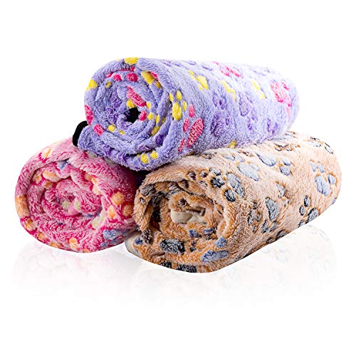 iNNEXT-3-Pack-Puppy-Blanket-for-Pet-Cushion-Small-Dog-Cat-Bed-Soft-Warm-Sleep-Mat-Pet-Dog-Cat-Puppy-Kitten-Soft-Blanket-Doggy-Warm-Bed-Mat-Paw-Print-0-2