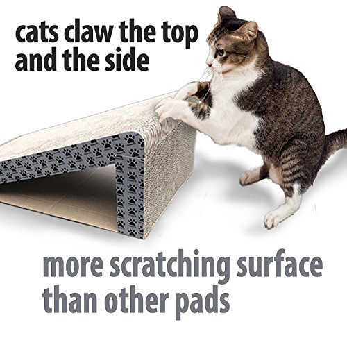 iPrimio-Cat-Scratcher-Ramp-Foldable-for-Travel-and-Easy-Storage-Great-for-Cats-Playing-Over-Under-and-Scratching-Patent-Pending-Design-0-0