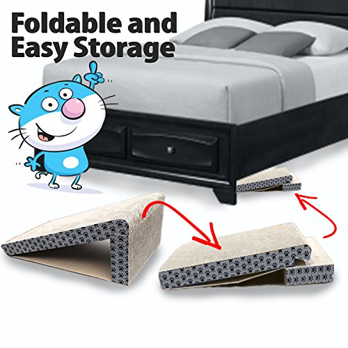 iPrimio-Cat-Scratcher-Ramp-Foldable-for-Travel-and-Easy-Storage-Great-for-Cats-Playing-Over-Under-and-Scratching-Patent-Pending-Design-0-1