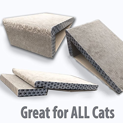 iPrimio-Cat-Scratcher-Ramp-Foldable-for-Travel-and-Easy-Storage-Great-for-Cats-Playing-Over-Under-and-Scratching-Patent-Pending-Design-0-2