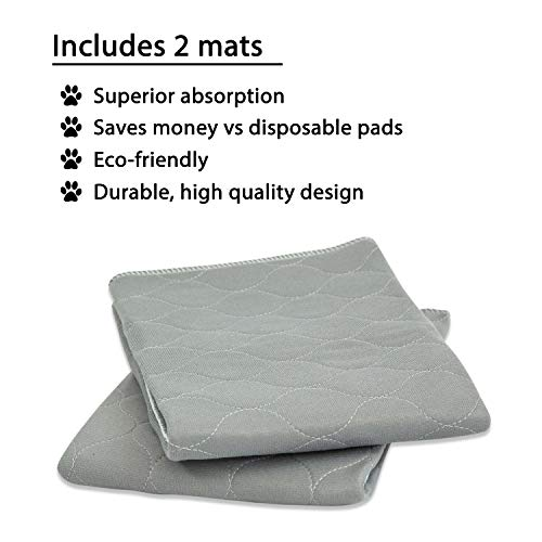 rocket-rex-Washable-Reusable-Pet-Training-and-Puppy-Pads-Waterproof-Leak-Proof-and-Absorbent-Whelping-Incontinence-Travel-Bed-Wetting-Mattress-Protector-0-2