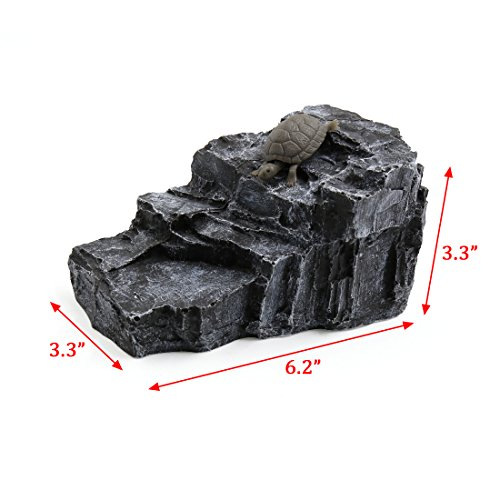uxcell-Aquarium-Landscape-Rock-Shaped-Basking-Ramp-Tortoise-Climb-Stone-Habitat-Decor-0-0