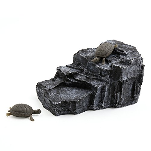 uxcell-Aquarium-Landscape-Rock-Shaped-Basking-Ramp-Tortoise-Climb-Stone-Habitat-Decor-0
