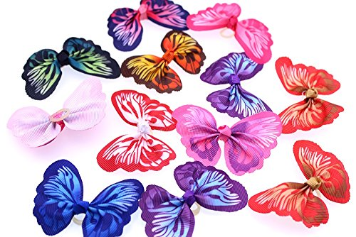 yagopet-24pcs12-Pairs-New-Dog-Hair-Bows-Rubber-Bands-Butterfly-Nice-Dog-Topknot-28-Durable-Small-Bowknot-Pet-Grooming-Products-Accessories-0-1