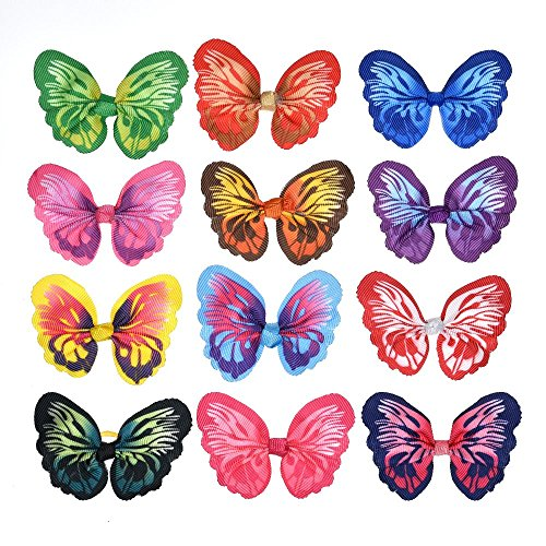 yagopet-24pcs12-Pairs-New-Dog-Hair-Bows-Rubber-Bands-Butterfly-Nice-Dog-Topknot-28-Durable-Small-Bowknot-Pet-Grooming-Products-Accessories-0