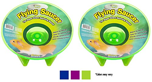 2-Pack-Ware-Flying-Saucer-Small-Pet-Exercise-Wheels-7-14-Inch-Medium-Colors-May-Vary-0