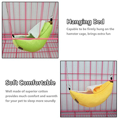 2-Pack-of-Hamster-Bedding-Sugar-Glider-Cage-Accessories-Hammock-Hamster-House-Toys-for-Small-Animal-Sugar-Glider-Squirrel-Chinchilla-Hamster-Rat-Playing-Sleeping-0-2